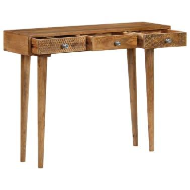 vidaXL Table console Bois de manguier massif 102 x 30 x 79 cm[3/13]