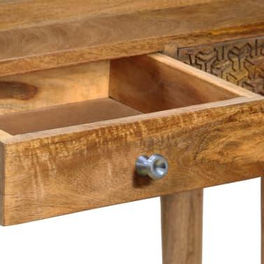 vidaXL Table console Bois de manguier massif 102 x 30 x 79 cm[7/13]