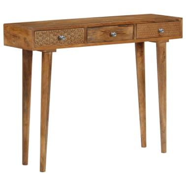 vidaXL Table console Bois de manguier massif 102 x 30 x 79 cm[9/13]