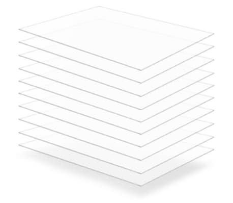 vidaXL Láminas de vidrio acrílico 10 unidades 60x80 cm 2 mm[1/6]