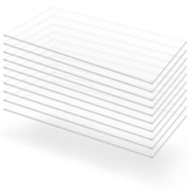 vidaXL Prozirne ploče od akrilnog stakla 10 kom 60 x 120 cm 2 mm[1/6]