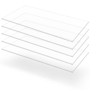 vidaXL Прозрачни акрилни плоскости, 5 бр, 60x120 см, 3 мм[1/6]
