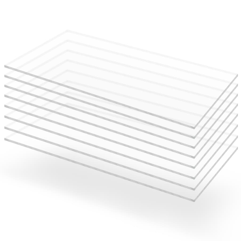 Průsvitné desky z akrylátového skla 8 ks 60 x 120 cm 4 mm