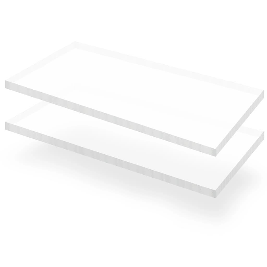vidaXL Plăci sticlă acrilică transparentă, 2 buc., 60 x 120 cm, 15 mm vidaxl.ro