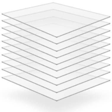 vidaXL Láminas de vidrio acrílico 10 unidades 40x60 cm 3 mm[1/6]