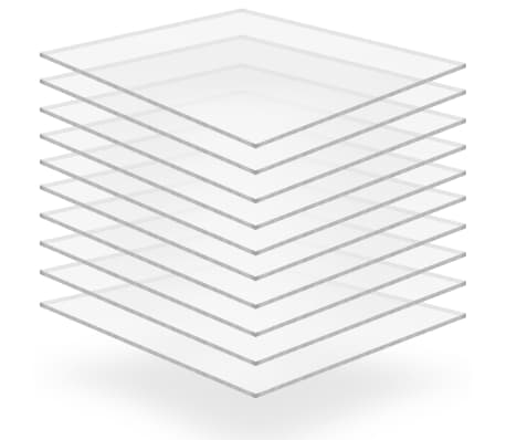 vidaXL Láminas de vidrio acrílico 10 unidades 40x60 cm 4 mm[1/6]