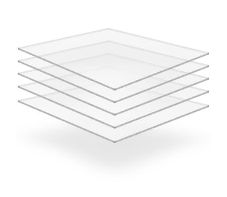 vidaXL Prozorne plošče iz akrilnega stekla 5 kosov 40x60 cm 4 mm[1/6]