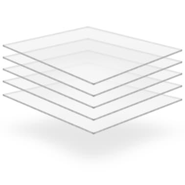 vidaXL Prozorne plošče iz akrilnega stekla 5 kosov 40x60 cm 5 mm[1/6]