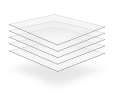 vidaXL Láminas de vidrio acrílico 5 unidades 40x60 cm 6 mm[1/6]