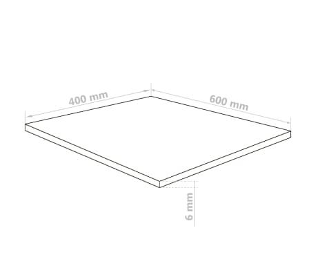 vidaXL Láminas de vidrio acrílico 5 unidades 40x60 cm 6 mm[6/6]