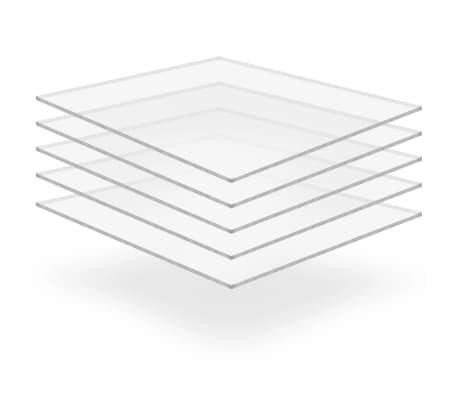 vidaXL organiskā stikla loksnes, 5 gab., 40x60 cm, 10 mm