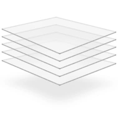 vidaXL Gjennomsiktig glasspanel akryl 5 stk 40x60 cm 10 mm[1/6]