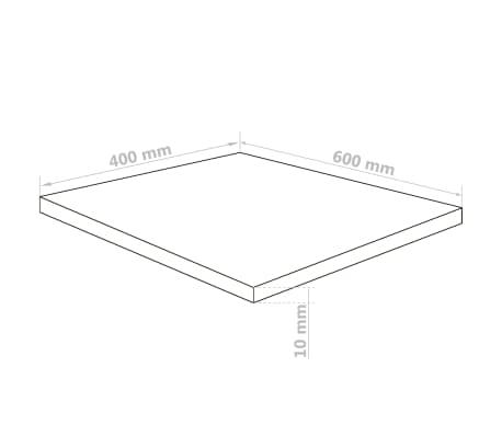 vidaXL Gjennomsiktig glasspanel akryl 5 stk 40x60 cm 10 mm[6/6]