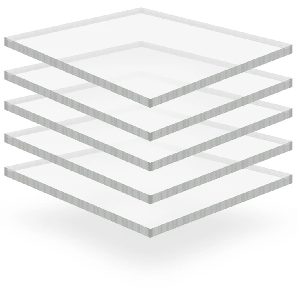 Průsvitné desky z akrylátového skla 5 ks 40 x 60 cm 15 mm