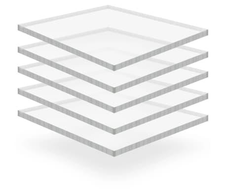 vidaXL Priehľadné dosky z akrylového skla 5 ks 40x60 cm 15 mm