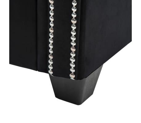 vidaXL Dvivietė sofa, aksominis apmušalas, 146x75x72cm, juoda[8/11]