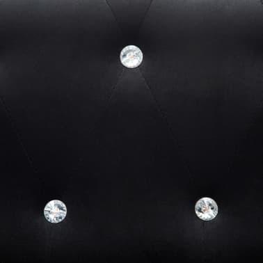 vidaXL Dvivietė sofa, aksominis apmušalas, 146x75x72cm, juoda[9/11]