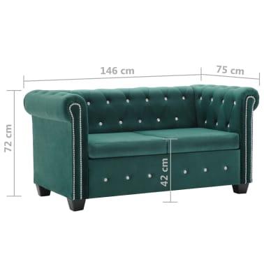vidaxl chesterfield sofa 2 sitzer samtbezug 146 x 75 x 72 cm gr n g nstig kaufen. Black Bedroom Furniture Sets. Home Design Ideas