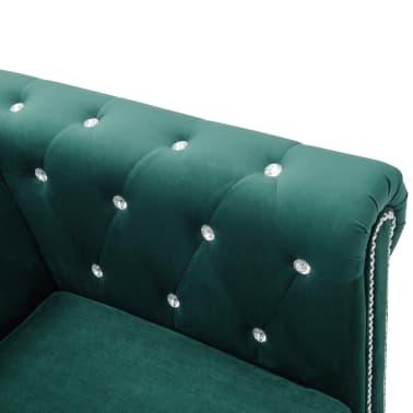 vidaxl chesterfield sofa l f rmig samtbezug 199x142x72 cm gr n g nstig kaufen. Black Bedroom Furniture Sets. Home Design Ideas