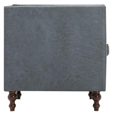 vidaxl chesterfield sofa 2 sitzer stoffpolsterung grau. Black Bedroom Furniture Sets. Home Design Ideas