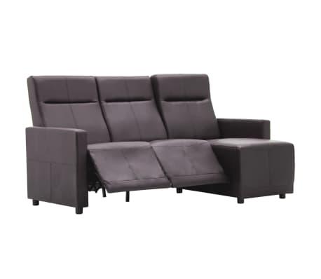 vidaXL Bank met verstelbare rugleuning L-vormig kunstleer bruin[2/13]