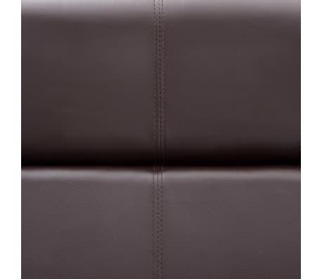 vidaXL Bank met verstelbare rugleuning L-vormig kunstleer bruin[12/13]