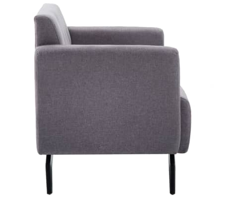 vidaXL Tweezitsbank 115x60x67 cm stof lichtgrijs[3/9]