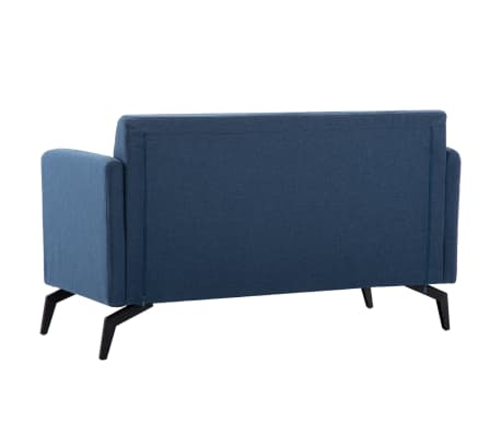 vidaXL 2-Sitzer-Sofa Stoffbezug 115 x 60 x 67 cm Blau[4/9]