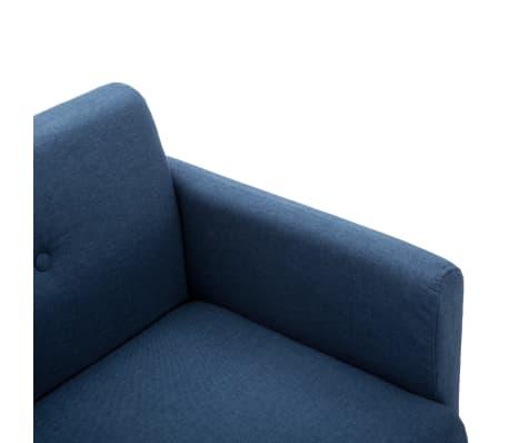 vidaXL 2-Sitzer-Sofa Stoffbezug 115 x 60 x 67 cm Blau[5/9]