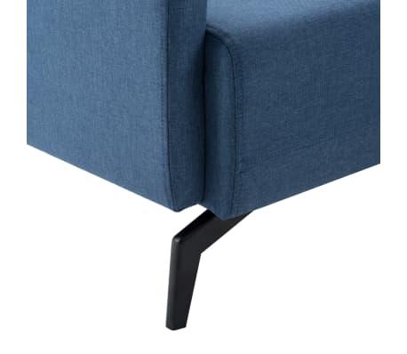 vidaXL 2-Sitzer-Sofa Stoffbezug 115 x 60 x 67 cm Blau[6/9]