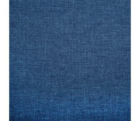 vidaXL 2-Sitzer-Sofa Stoffbezug 115 x 60 x 67 cm Blau[8/9]