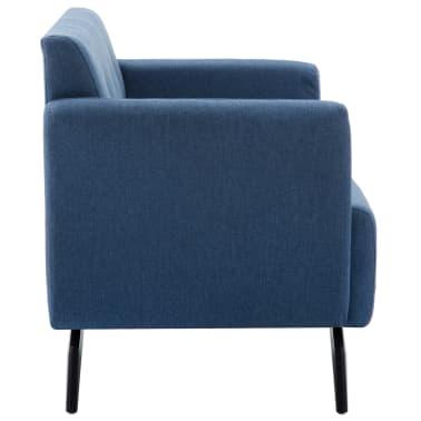 vidaXL 2-Sitzer-Sofa Stoffbezug 115 x 60 x 67 cm Blau[3/9]