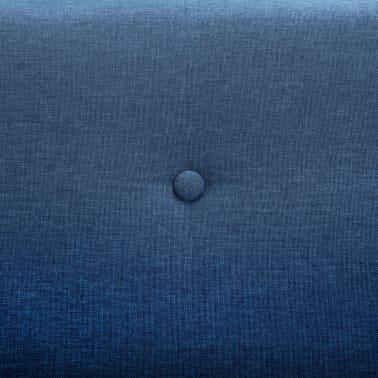 vidaXL 2-Sitzer-Sofa Stoffbezug 115 x 60 x 67 cm Blau[7/9]