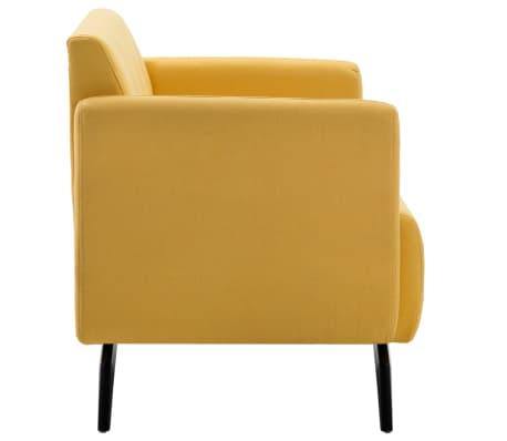 vidaXL Tweezitsbank 115x60x67 cm stof geel[3/9]