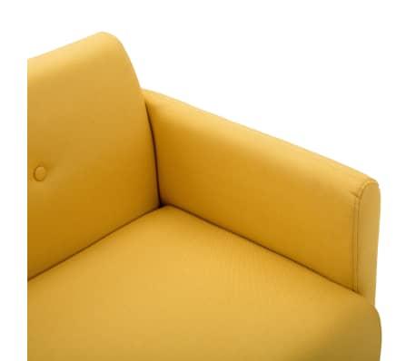 vidaXL Tweezitsbank 115x60x67 cm stof geel[5/9]