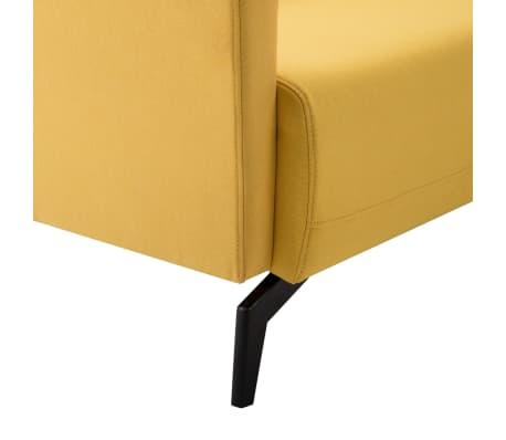 vidaXL Tweezitsbank 115x60x67 cm stof geel[6/9]