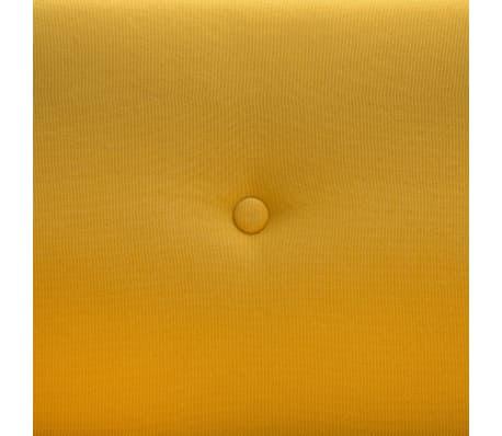 vidaXL Tweezitsbank 115x60x67 cm stof geel[7/9]