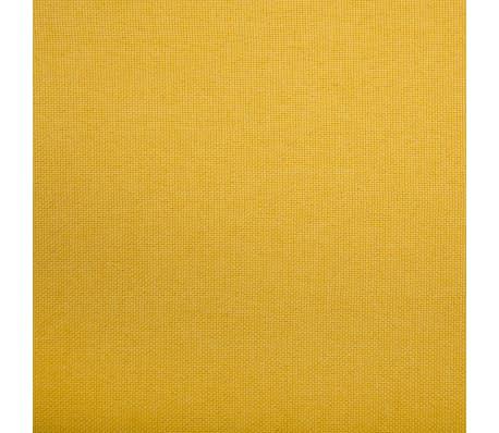 vidaXL Tweezitsbank 115x60x67 cm stof geel[8/9]