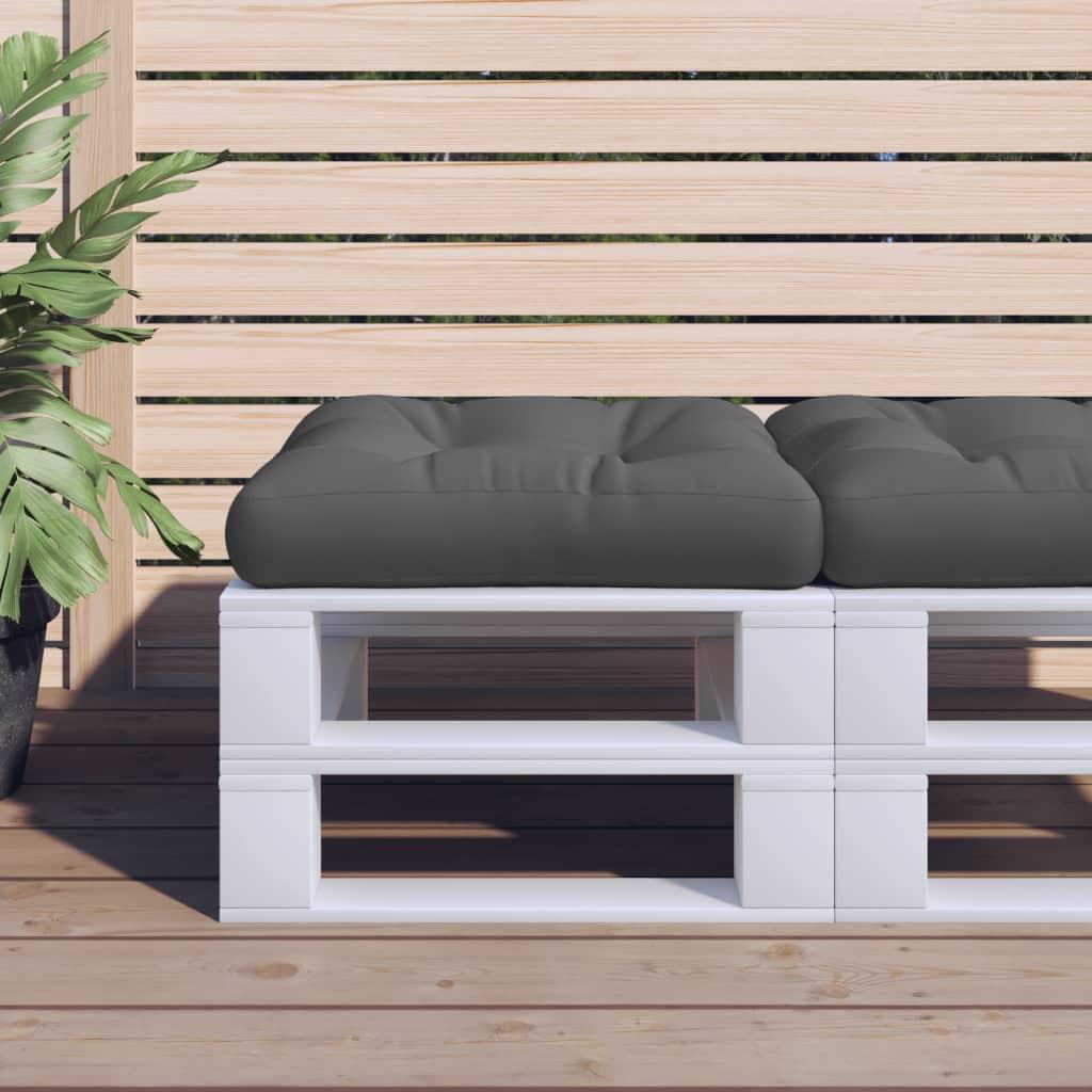 vidaXL Poduška na paletový nábytek šedá 58 x 58 x 10 cm polyester