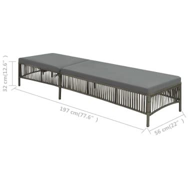 olcs vidaxl sz rke polyrattan napoz gy 197 x 56 x 32 cm. Black Bedroom Furniture Sets. Home Design Ideas