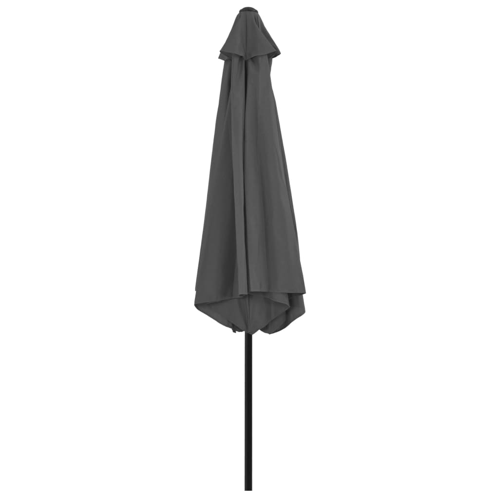 vidaXL Parasol met metalen paal 300 cm antraciet