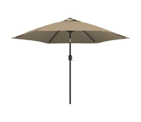 vidaXL Parasol d'extérieur avec poteau en métal 300 cm Taupe