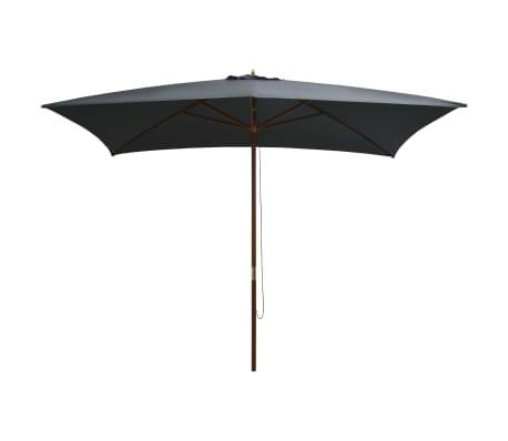 vidaXL Sonnenschirm mit Holz-Mast 200×300 cm Anthrazit