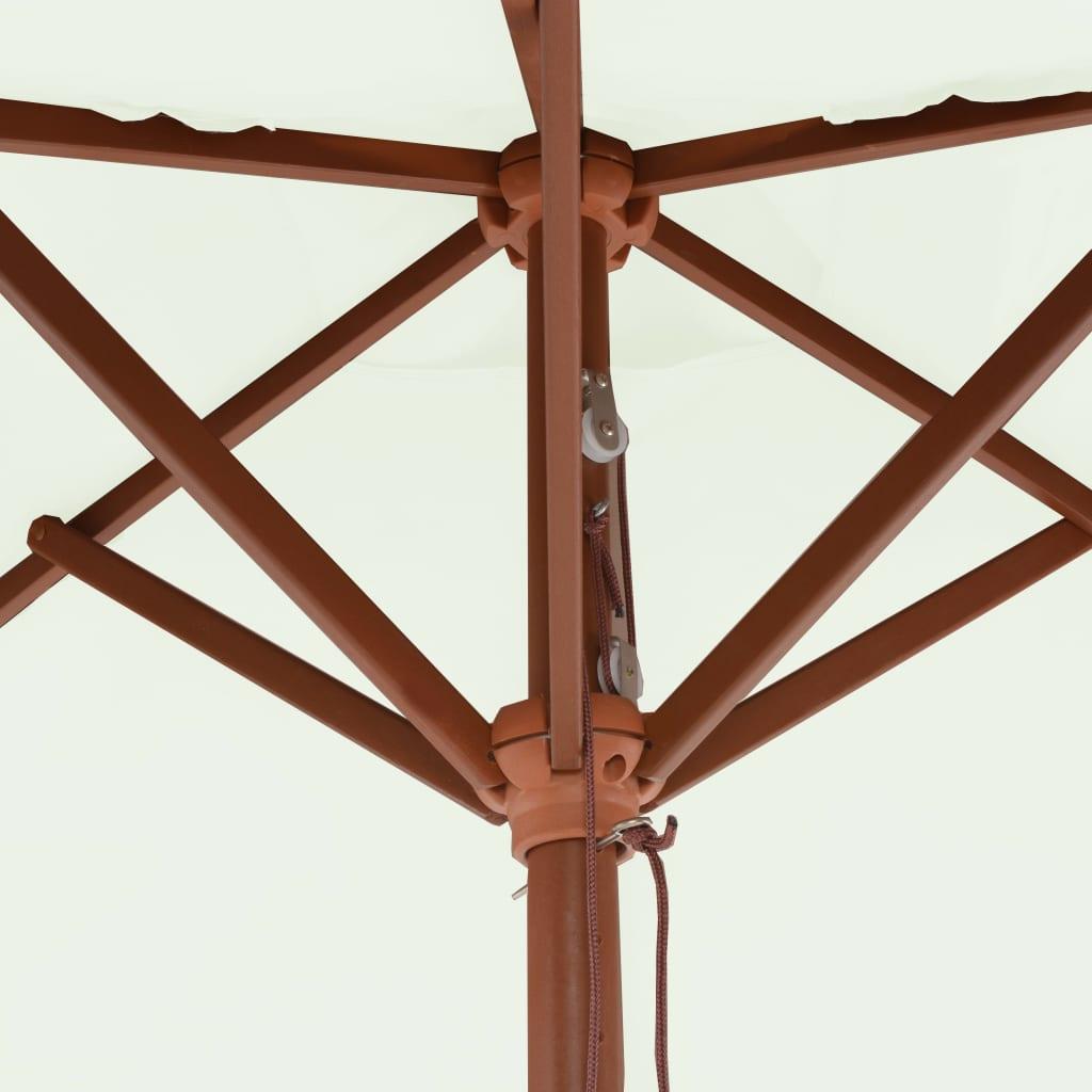 Parasol met houten paal 150x200 cm zandkleurig