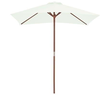 vidaXL Parasol avec mât en bois 150 x 200 cm Sable[2/8]
