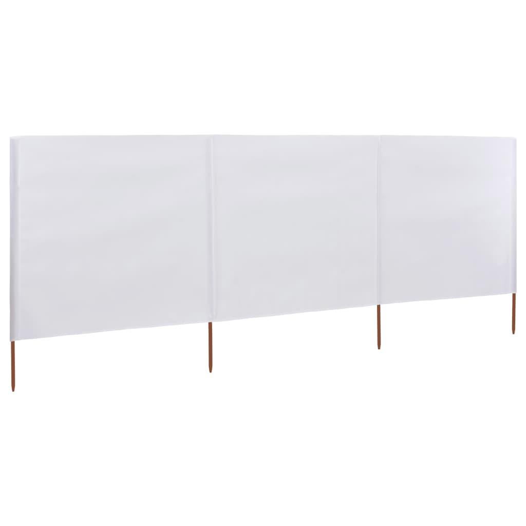 3-teiliges Windschutzgewebe 400 x 120 cm Weiß