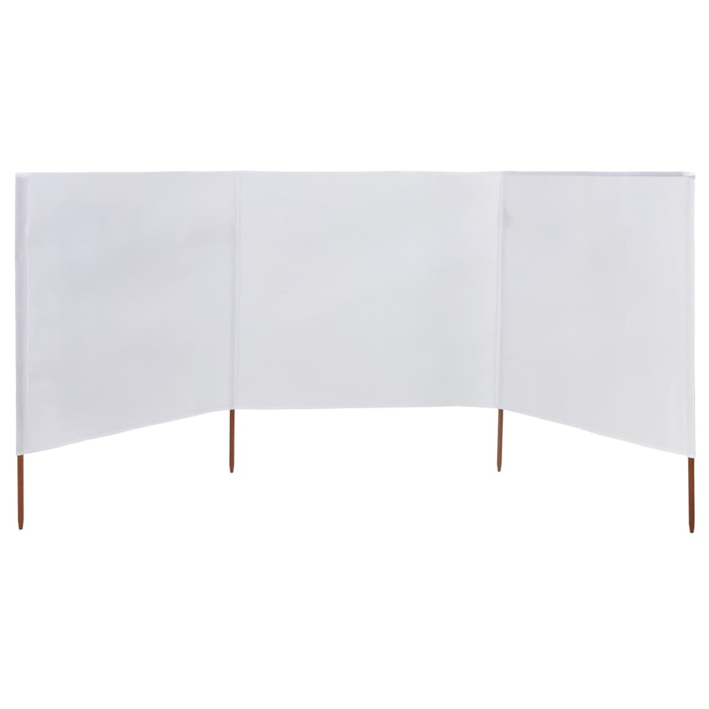 vidaXL Windscherm 3-panelen 400x120 cm stof wit