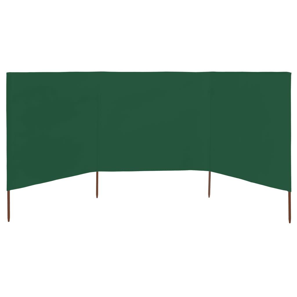 vidaXL Windscherm 3-panelen 400x120 cm stof groen