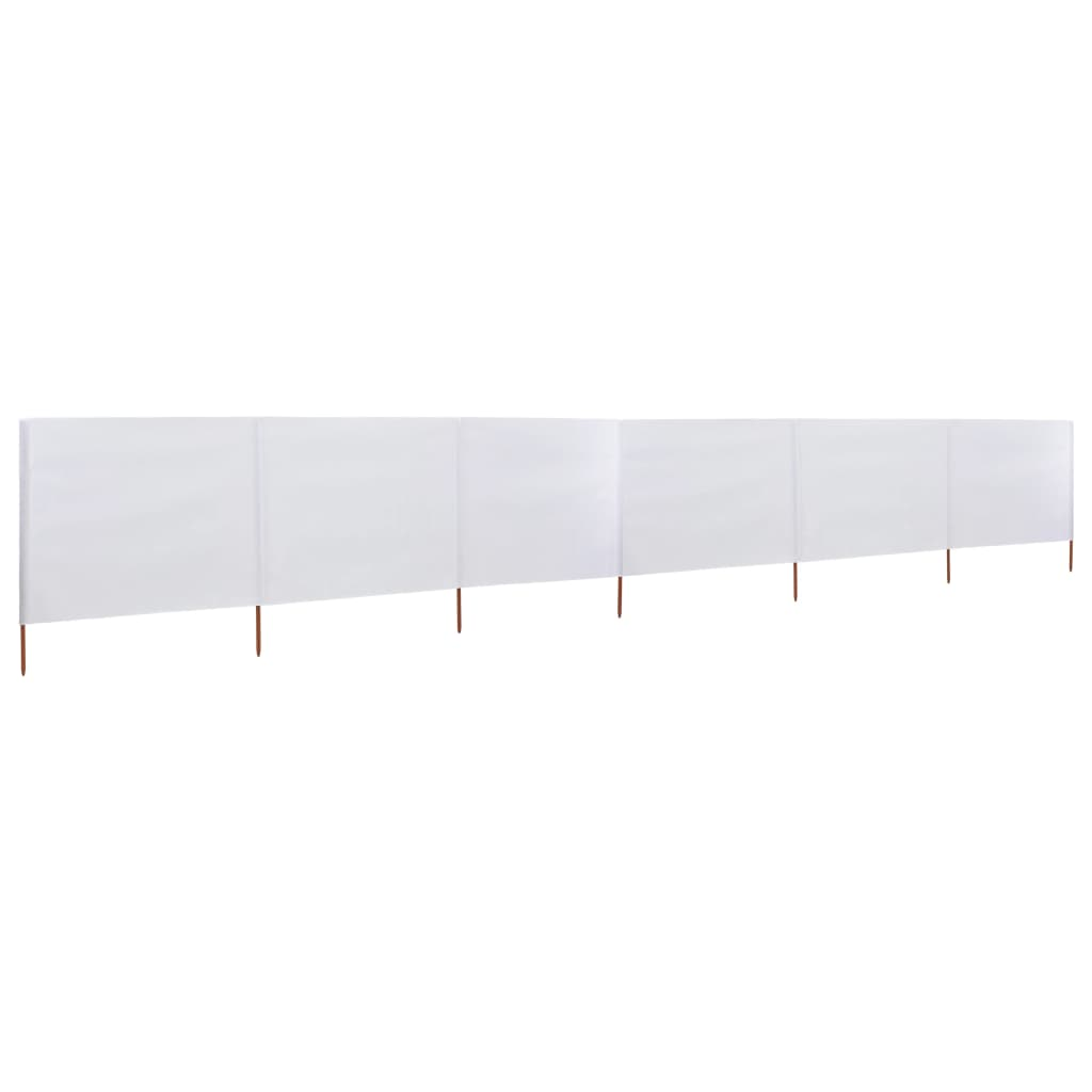 vidaXL Προστατευτικό Αέρα με 6 Πάνελ Λευκό 800 x 80 εκ. Υφασμάτινο