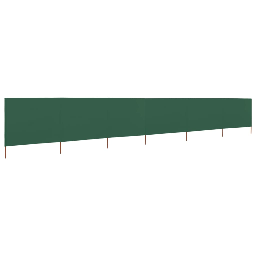 vidaXL 6dílná zástěna proti větru zelená 800 x 80 cm látková